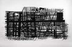 Stepanie Beck: Section. charcoal dust on paper