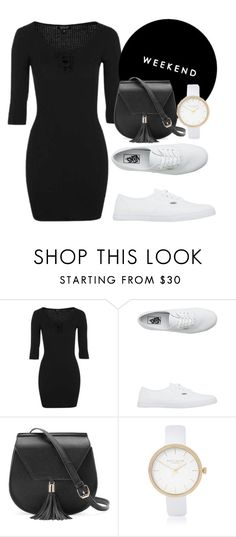 """Untitled #386"" by dreamer3108 on Polyvore featuring Topshop, Vans, Yoki, River Island, Dark, ootd and blackdress"
