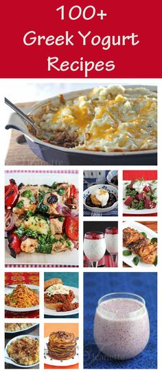 100 Greek Yogurt Recipes - How To Use Greek Yogurt - Jeanette's Healthy Living - how to use Greek yogurt in cooking and baking, as a healthy substitute for sour cream, mayonnaise, heavy cream and cream cheese Healthy Cooking, Healthy Snacks, Healthy Eating, Cooking Recipes, Healthy Recipes, Dessert Healthy, Clean Recipes, I Love Food, Good Food