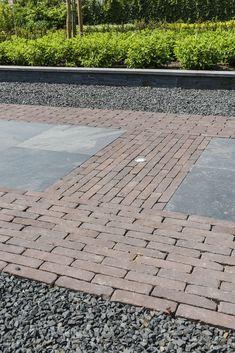 Brick Border, Contemporary Garden, Pavement, Garden Paths, Garden Inspiration, Backyard Landscaping, Landscape Design, Sidewalk, Home And Garden