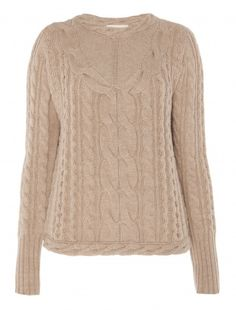 A luxurious take on a cable knit, the Temperley London Galatea Jumper  is a winter must have. Made of super soft merino wool, it has  engineered cable details that run up the length of the body with design  lines that curve around the waist and neck serving to slim and  accentuate the female form.           Fabric Composition: 100% Supersoft Merino Wool        True to size.        Standard top length        Model is 5ft 10 and is wearing a size 8.