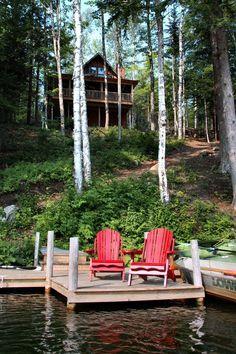 Lake house serenity // Great Gardens Ideas //