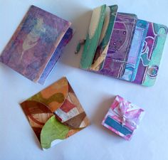 These are small books made from my gelli prints.