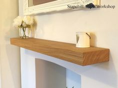 3 Truthful Tips: Small Floating Shelves Tutorials glass floating shelves laundry rooms.Floating Shelves Alcove Built Ins floating shelf storage ideas.How To Hang Floating Shelves Pictures. Floating Shelf Mantle, Reclaimed Wood Floating Shelves, Floating Shelves Bathroom, Mantel Shelf, Wood Shelves, Shelf Wall, Glass Shelves, Hanging Shelves, Fireplaces