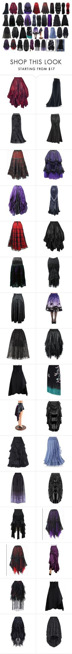 """""""Lanya's Long Skirts #2"""" by switchback13 on Polyvore featuring Hell Bunny, Elie Saab, RIXO London and California Costumes"""