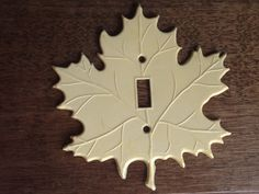 Vintage Plastic Maple Leaf Light Switch by rockhousecollection