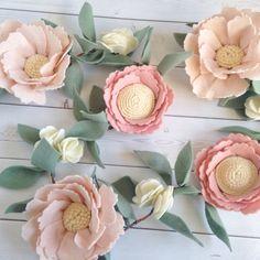 Pink Nursery Decor  Felt Flower Garland  Floral Nursery