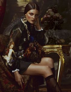 The worlds of interiors and fashion come together to revel in the extravagant materials and intricate ornamentation of baroque. Styling by Damian Foxe. Photographs by Andrew Yee