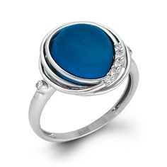 This 14K white gold ring is a gleaming piece from our Refined Rebel Collection; comprised of .08ctw round white diamonds and an 8.46ct Blue Topaz, this ring can add a hue of blue to your little black dress.