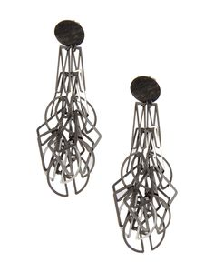 """Composition: Silver Details: MIX earrings Earrings in 800 silver, either white or rhodium plated. Jewellery as signs, rhythms, writings, traces of collective memories. Carla Riccoboni's pieces stand outside the traditional conception of jewellery or costume jewellery. They are resplendent examples of design where form """"draws inspiration from the production process"""". Made in Italy Measurements: Length: 8.5 cm Carla riccoboni Women - Jewellery - Earrings Carla riccoboni on YOOX"""