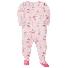 1-Piece Jersey Pjs | Baby Girl Pajamas