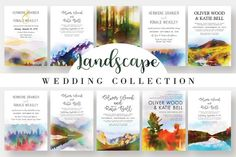 Landscape Wedding Collection Vol.2 by Knotted Design on @Graphicsauthor