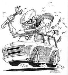 Zombie Hot Rod Art