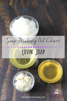 soap making oil chart