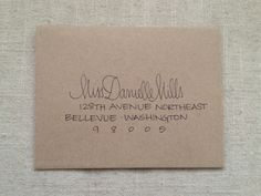 Hand Addressed Envelope Script @Miranda Marrs Marrs Marrs Ford