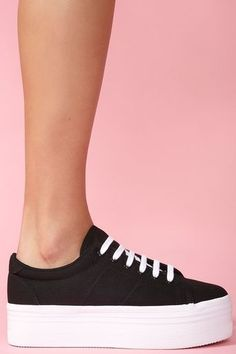 Simple and adorable black platforms