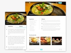 35 Best Design: Recipes images in 2015 | Page layout