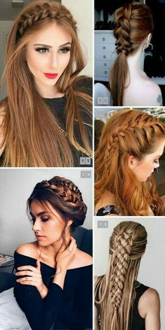 5 Aware Tips AND Tricks: Braided Hairstyles Unique women afro hairstyles posts.Braided Hairstyles For Long Hair women hairstyles edgy thick hair. Cool Braid Hairstyles, Loose Hairstyles, Everyday Hairstyles, Girl Hairstyles, Wedding Hairstyles, Brunette Hairstyles, Fringe Hairstyles, Feathered Hairstyles, Hairstyle Ideas