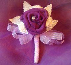 Elegant Fabric Flower Corsage by bellamariacreations on Etsy, $12.50