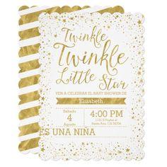 Twinkle Little Star Baby Shower Invitations