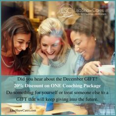 Grab this Dec. discount and get answers, solutions and results! Let's do it. It's your life -- live it fully.