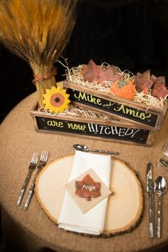 Country Fall theme edible wedding decoration cookies
