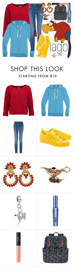 """""""Iago~ DisneyBound"""" by basic-disney ❤ liked on Polyvore featuring Disney, Rebecca Minkoff, Icebreaker, Calvin Klein, adidas Originals, Bling Jewelry, Benefit, NARS Cosmetics and SM New York"""