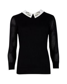 Not 100% Convinced About This Ted Baker Embellished collar sweater but would look great with skinnies and heels