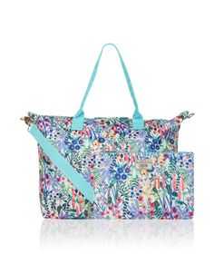 Perfect for overnight stays, our Floral weekender bag easily packs away into a small pouch. A generous size that'll hold all your essentials, it features two...