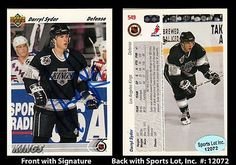 Darryl Sydor Signed 1991-92 Upper Deck #549 LA Kings Trading Card SL Authentic . $6.00. National Hockey League DefensemanDarryl SydorHand Signed 1991-92 Upper Deck #549 Trading CardSydor Played For:Los Angeles Kings 1991-1995Dallas Stars 1995-2003Columbus Blue Jackets 2003Tampa Bay Lightning 2003-2006Dallas Stars 2006-2007Pittsburgh Penguins 2008-2009Dallas Stars 2009St. Louis Blues 2009-2010.GREAT AUTHENTIC DARRYL SYDOR HOCKEY COLLECTIBLE!!AUTOGRAPHS GUARANTEED AUTHENTIC BY SPOR...