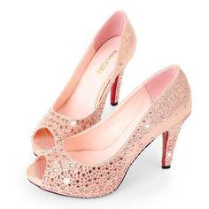 ROSE GOLD WEDDING DRESSES | Toe Rose Gold Wedding Prom Shoes High Heel 10cm Sale Online,Wedding ...
