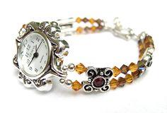 beads jewellery making Cute Jewelry, Diy Jewelry, Beaded Jewelry, Jewelry Making, Beaded Bracelets, Beaded Watches, Jewelry Watches, Crystal Jewelry, Crystal Beads