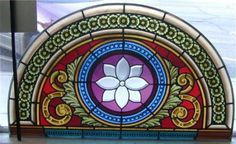 Beautiful Antique Arched Stained Glass Window 1879 Architectural Salvage | eBay