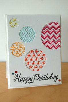carte d'anniversaire colorée, une jolie carte d'anniversaire pour vos amis