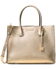 62a658ba447 Michael Michael Kors Studio Mercer Large Convertible Tote - Gold Handbags Michael  Kors, Michael Kors