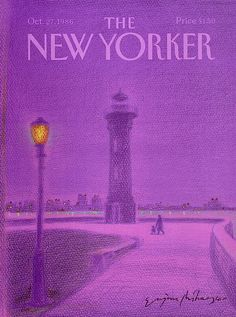 Top 80 des plus belles couvertures du New Yorker (ou presque) Dark Purple Aesthetic, Violet Aesthetic, Lavender Aesthetic, The New Yorker, New Yorker Covers, Bedroom Wall Collage, Photo Wall Collage, Picture Wall, Purple Wall Decor