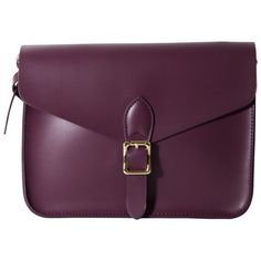 Palette Cross-body Satchel, Purple, by Angela & Roi - Angela & Roi donates a portion of their profits to medical research; purple is for Alzheimer's disease. Shoulder Strap Bag, Crossbody Shoulder Bag, Leather Crossbody, Leather Handbags, Angela Roi, Purple Cross, Cross Body Satchel, Purple Handbags, Vegan Handbags