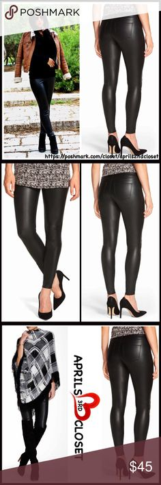 "⭐️⭐️ FAUX LEATHER LEGGINGS 💟NEW WITH TAGS💟 RETAIL PRICE: $60  FAUX LEATHER LEGGINGS   * 2 functional back pockets  * Comfy & lightweight stretch-to-fit style  * Approx 29"" inseam, 10"" rise for size M  * Banded waist  * Slim tailoring  ***Runs small, order one size up Manufacturer's sizing: S= 4-6, M = 8-10, L = 12-14, XL = 16 Material: 88% polyester, 12% spandex Color: Black Item# #  🚫No Trades🚫 ✅ Offers Considered*✅ *Please use the blue 'offer' button to submit an offer Boutique Pants…"