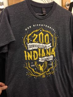 Indiana Bicentennial T-Shirt by Yonder Clothing Co