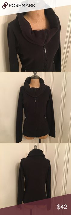 Bench fleece funnel neck full zip jacket Had thumbholes on the fleeves. Narrow flattering cute. Long funnel neck, great for outdoor workouts in the fall/Winter or just a casual jacket. Bench Jackets & Coats
