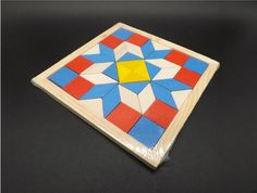 Divertimento Geometria Rombo Tangrams Logica Puzzle Giocattoli In Legno Per Bambini Formazione Del Cervello IQ Giochi Bambini Regali