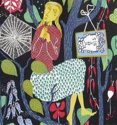 Stig Lindberg fabric vtg retro 40s 50s melodi Scandinavian DIY pic #209