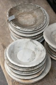 """natural, rustic or imperfect """"wabi sabi"""" decor or household items or things. Ceramic Clay, Ceramic Plates, Marble Plates, White Plates, Pottery Plates, Ceramic Pottery, Wabi Sabi, Casa Cook, In China"""