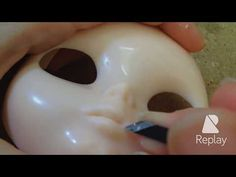 Julia Cabral Dolls - Carved mouth 2 - Blythe lips: detailing - YouTube