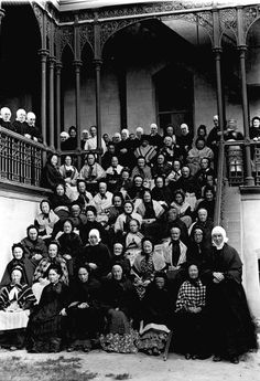 Female Residents of the Little Sisters of the Poor Home, Northcote, Victoria, Nov 1892 -  Photograph taken by Thomas Beckett, doctor, pioneering radiologist and amateur photographer between 1891 and 1910. (who lived nearby in Westbourne Grove, Northcote.