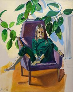 Alice Neel - Olivia with the Rubber Plant - 1977