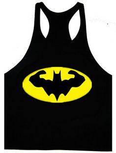 Tanque de entrenamiento para hombre Batman combado por MyGymTeez