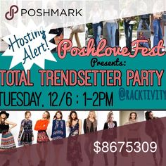 "HOSTING! Special PoshLoveFest Posh Party 12/6 Please share this listing and comment your closet and your closet crushes for Host Picks--I'll be making my selections over the weekend and submitting them on Monday night...PoshLoveFest presentsTotal Trendsetters, all together in one fabulous fashion parade for an hour only--don't miss it! I'll be there hosting, shopping, & sharing...join me! Tuesday, 12/6 from 1-2pm.... ""See"" everyone there! 🎉🎈💃🏼 Anthropologie Dresses"