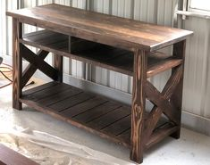 Rustic Media Console TV Stand Rustic Farmhouse Media Table Handcrafted Solid Wood Furniture C - TV Stands - Ideas of TV Stands Furniture Projects, Furniture Plans, Furniture Decor, Furniture Design, Cottage Furniture, Furniture Storage, Furniture Websites, Outdoor Furniture, Furniture Cleaning