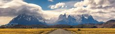 Road to the Cuernos by BarbaraSeiberl-Stark  Chile Drama Panorama Patagonien Torres del paine Wolken clouds light mountains road sky travel Road